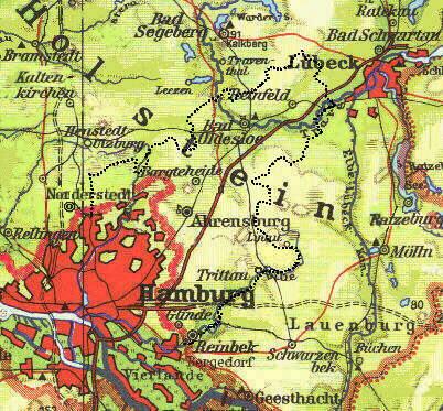 Bildergebnis für Stormarn kreis Ahrensburg landkarte